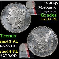1898-p Morgan Dollar $1 Grades Choice Unc+ PL