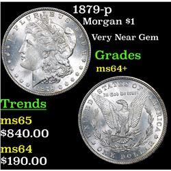 1879-p Morgan Dollar $1 Grades Choice+ Unc