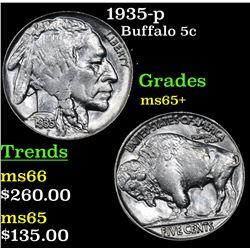 1935-p Buffalo Nickel 5c Grades GEM+ Unc