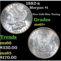 1882-s Morgan Dollar $1 Grades GEM+ Unc