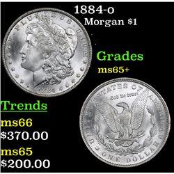 1884-o Morgan Dollar $1 Grades GEM+ Unc