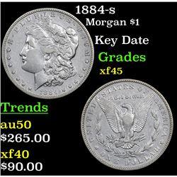 1884-s Morgan Dollar $1 Grades xf+