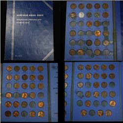 Partial Lincoln cent book 1941-1974 69 coins . . Grades
