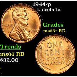 1944-p Lincoln Cent 1c Grades Gem+ Unc RD