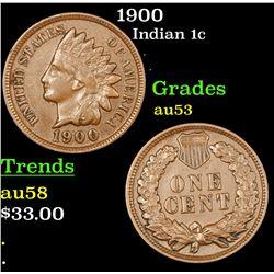 1900 Indian Cent 1c Grades Select AU