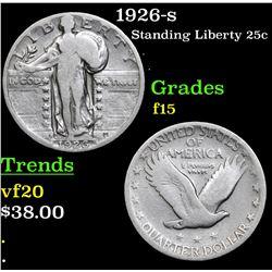 1926-s Standing Liberty Quarter 25c Grades f+