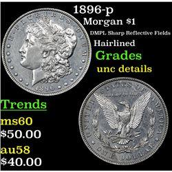 1896-p Morgan Dollar $1 Grades Unc Details