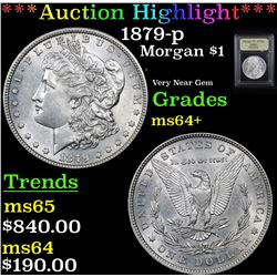 ***Auction Highlight*** 1879-p Morgan Dollar $1 Graded Choice+ Unc By USCG (fc)