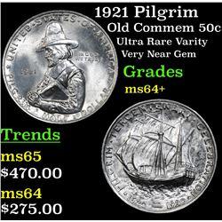 1921 Pilgrim Old Commem Half Dollar 50c Grades Choice+ Unc