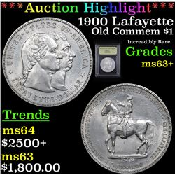 ***Auction Highlight*** 1900 Lafayette Lafayette Dollar $1 Graded Select+ Unc By USCG (fc)