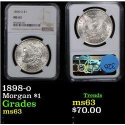 NGC 1898-o Morgan Dollar $1 Graded ms63 By NGC