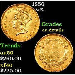 1856 Gold Dollar $1 Grades AU Details