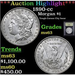 ***Auction Highlight*** 1890-cc Morgan Dollar $1 Graded Select Unc By USCG (fc)