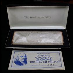 The Washington Mint 2004 $100 Silver Proof 4oz .999 Pure Silver Grades