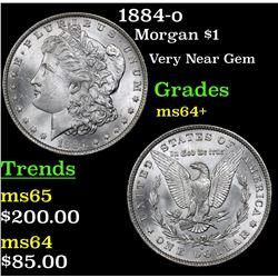 1884-o Morgan Dollar $1 Grades Choice+ Unc