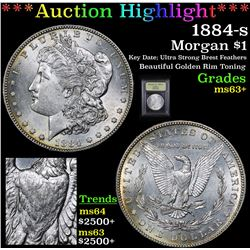 ***Auction Highlight*** 1884-s Morgan Dollar $1 Graded Select+ Unc By USCG (fc)