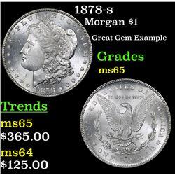 1878-s Morgan Dollar $1 Grades GEM Unc