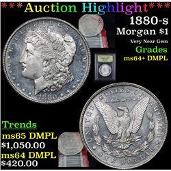 ***Auction Highlight*** 1880-s Morgan Dollar $1 Graded Choice Unc+ DMPL By USCG (fc)