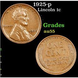 1925-p Lincoln Cent 1c Grades Choice AU