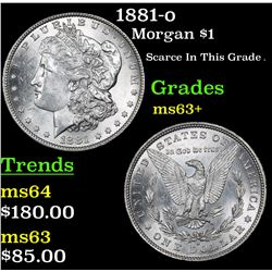 1881-o Morgan Dollar $1 Grades Select+ Unc
