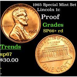 1965 Special Mint Set Lincoln Cent 1c Grades Gem++ Red