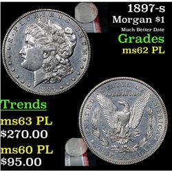 1897-s Morgan Dollar $1 Grades Select Unc PL
