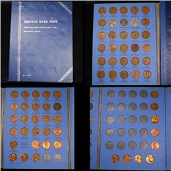 Starter Lincoln cent book 1941- 1974 66 coins . .