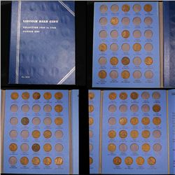 Partial Lincoln cent book 1909-1940 46 coins . . Roll 1c Grades