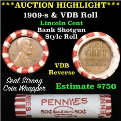 ***Auction Highlight*** Key Date 1931-s Wheat Cent end, Mixed small cents 1c orig shotgun roll, WOW