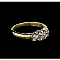 14KT Two-Tone Gold 0.42 ctw Diamond Ring