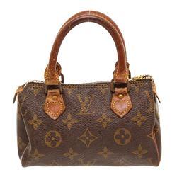 Louis Vuitton Monogram Canvas Leather Mini Speedy Bag