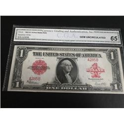 1923 $1 US Note