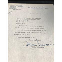 1965 A. Willis Robertson, Joseph S. Clark & Benjamin F. Holmes Senate Letters Lot of 3