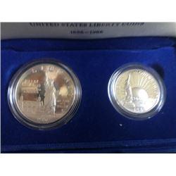 1986 Liberty Silver Coins