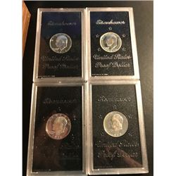 1971,1972,1973,1974 Ike Proof Dollars