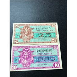 10&25 Cent Military Payment Certificate