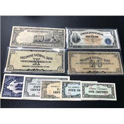 WWII Phillipine Money & Japanese Invasion Money