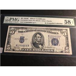 1934C $5 Silver Certificate