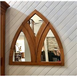 LARGE ARCHED PINE MIRROR
