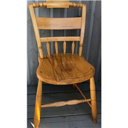 SET OF 3 WOOD DINING CHAIRS