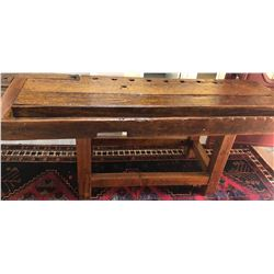 PINE HALL TABLE RE-PURPOSED WORK BENCH