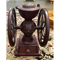 ANTIQUE COUNTER TOP COFFEE GRINDER