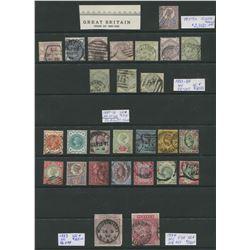 Great Britain 1883-90 Rare Victoria Stamp Collection