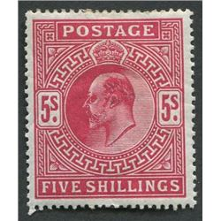 Great Britain 1902-11 5sh S/C #140 a76 MH VF OG