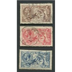 Great Britain 1913 Brittania Rules the Waves Stamps