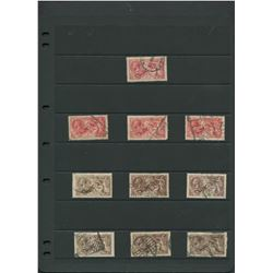 Great Britain 1919 Seahorses Stamp Collection