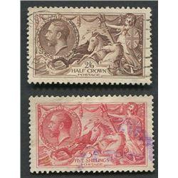 Great Britain 1919 Seahorses Stamp Set 2