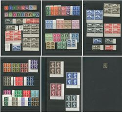 Great Britain Mint Blocks and Singles Stamp Collection
