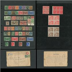 Great Britain Stamp and Registered Letter Collection