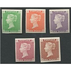 Great Britain Victoria One Penny Colour Proofs